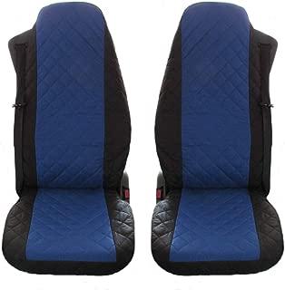 Schwarz-blaue Sitzbezüge für VOLVO V40 Autositzbezug NUR FAHRERSITZ