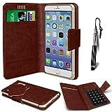 N4U Online® - Nokia Asha 210 Brown PU Leather Suction Pad