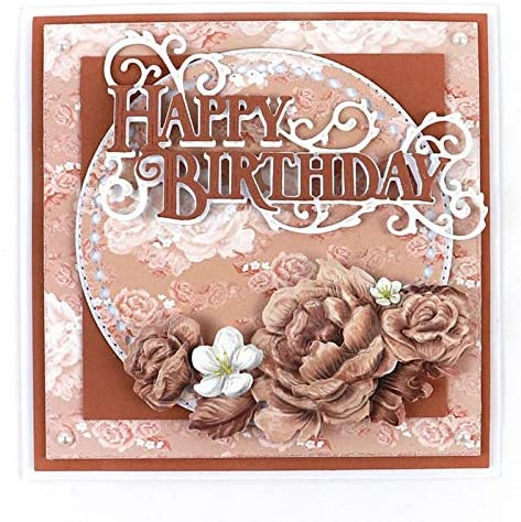 Weihua Word Happy Birthday Metal NEW before selling ☆ Scrapbooking a for Outstanding Dies Cutting