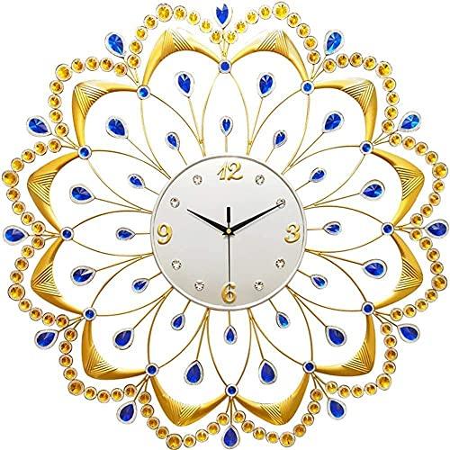 chazuohuaile Co.,ltd Reloj De Pared Reloj De Pared Decorativo ModernoLarge Wall-Mounted Metal DecorationSilent Waterproof Suitable For Bedroom Kitchen