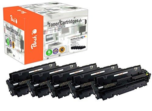 Peach Confezione risparmio Plus Module Toner Compatibile con Hp cf410a * 2, cf411a, cf412a, cf413a