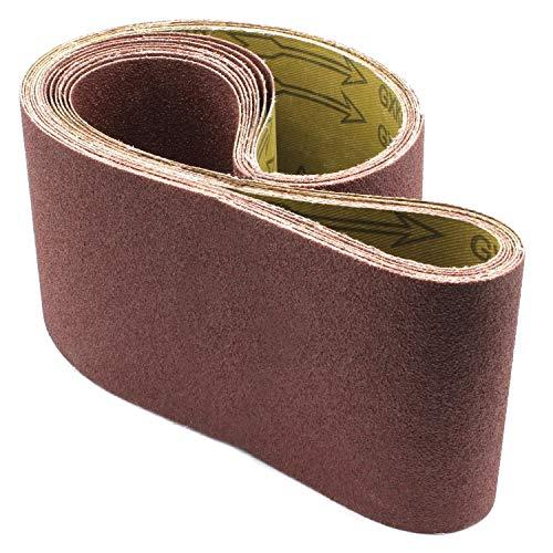 10x Schleifbänder 100x914 in Körnung 150 Schleifband Bandschleifer Gewebe-Schleifbänder Schleifband Papier für Bandschleifmaschinen