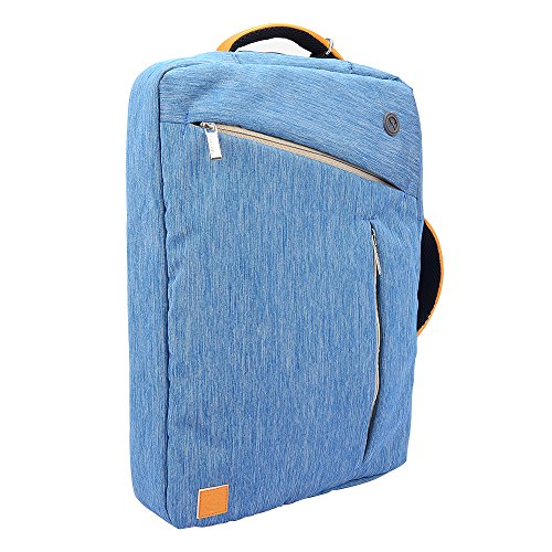 WGS Hybrid Briefcase Messenger Backpack Shoulder Bag for MacBook Lenovo Dell ASUS Acer HP Toshiba Samsung Sony MSI 11.6 12.1 12.2 13.3 inch Laptop Notebook Ultrabook Chromebook, Blue