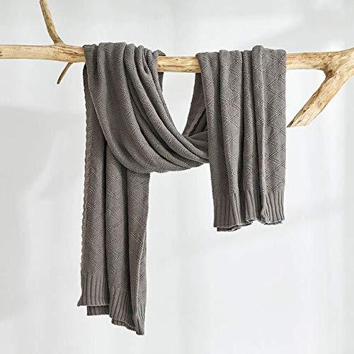 RAQ katoenen gebreide deken voor bed deken Travel Plaids Sofa sprei zachte dekens voor slaapkamer decoratieve Slipcover 180x200cm