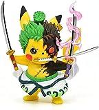 Pokemon Anime Kawaii Cosplay Roronoa Zoro Figura de acción estatuas G K Colección Regalos de cumpleaños Funko Pop It