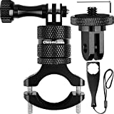 Mountain Bike Mount for Gopro, ChromLives Bicycle Mount Camera, Aluminum Motorcycle Handlebar Camera Mount with 360 Degrees Rotation for Action Camera, Gopro Hero Sessions, Osmo and More