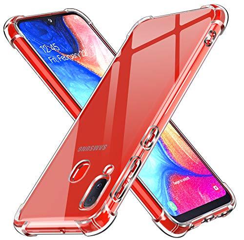 iVoler Cover per Samsung Galaxy A20e / A20 e, Custodia Trasparente per Assorbimento degli Urti con Paraurti in TPU Morbido, Sottile Morbida in Silicone TPU Protettiva Case