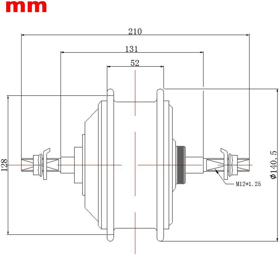 TBVECHI 500W 36V Brushless Gear Hub Motor for Electric E-Bike Conversion Kit Brushless Non-Gear Hub Motor Cassette Rear Motor Freewheel Rear Motor