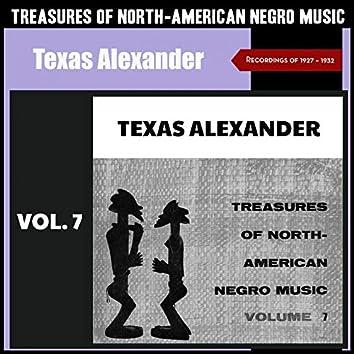 Treasures of North-American Negro Music, Vol. 7 (Recordings of 1927 & 1928)