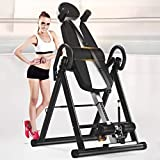 Heavy Duty Inversion Table with Headrest & Adjustable Protective Belt, Back Inversion Equipment Fitness Chiropractic...
