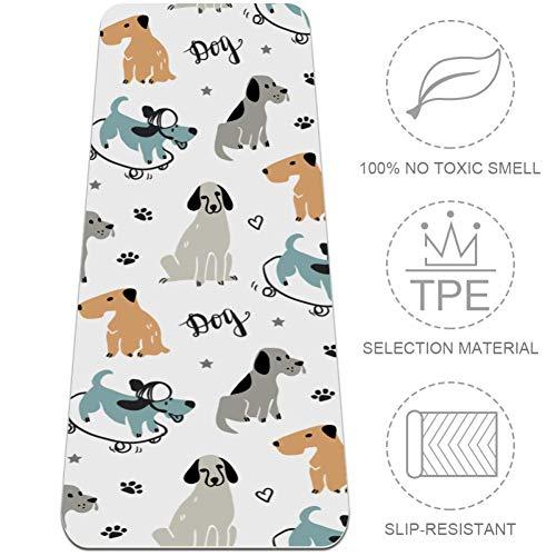 BestIdeas TPE-Yogamatte für Hunde und Skateboard-Decke für Yoga, Pilates, Bodenübung, umweltfreundlich, rutschfestes Design, Hunde und Skateboard, m