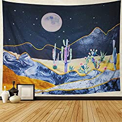 cactus and moon wall hanging
