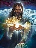 Pintura de diamantes Nuevas imágenes religiosas de diamantes de imitación 5D DIY Diamante Bordado Venta Jesús Mosaico completo Arte de la pared