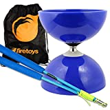 Blue Big Top - Jumbo Bearing Diabolos Set, Blue Superglass Diablo Sticks, Diabolo string & Bag! by Juggle Dream