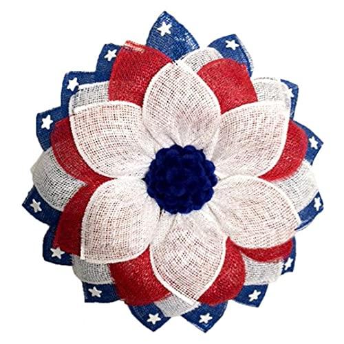 Día de la Independencia de la Guirnalda de 4 º de Julio de simulación Garland patrióticos de la Guirnalda Decoraciones de la Bandera Adornos para decoración de la Ventana de la Puerta Style1
