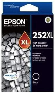 EPSON 252XL High Capacity DURABrite Ultra Black Ink - WF-3620, WF-3640, WF-7610, WF-7620