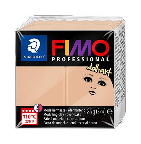 Staedtler FIMO Professional Doll Art, pasta modellabile termoindurente, studiata per modellare bambole, panetto da 85 gr, color sabbia opaco, 8027-45