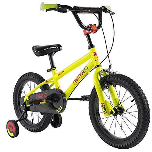 Axdwfd kinderfiets kinderfiets met steunwiel, 12/14/16/18 inch fiets van koolstofstaallegering voor 3-5 jaar oude kinderfiets