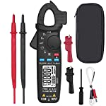 Digital Clamp Meter 6000 Current True RMS AC/DC Auto-Ranging 6000 Counts Meter Hz Temperature Capacitance Live Check V-Alert Low Impedance Voltage Tester