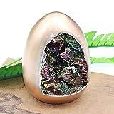 1pc Rainbow Bismuth Ore Egg Quartz Crystal Geode Mineral Specimen Decor
