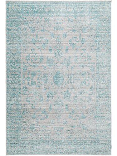 benuta Teppich Visconti Türkis 80x150 cm   Moderner Teppich für Wohn- und Schlafzimmer
