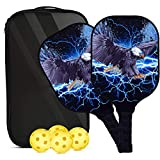 OURLOVE Pickleball Paddle Set of 2 USAPA certified graphite racket, honeycomb composite core,2
