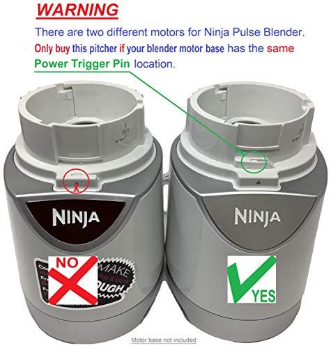 Ninja 48oz Pitcher Bowl for BL206 BL207 BL250 700w Extreme Kitchen System Pulse Blender, Yellow New York