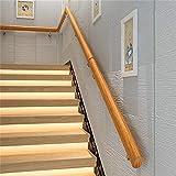 YIKE 18 ft. Main Courante - Trousse complète. Rampes d'escalier Anti-dérapantes en pin Ovale, Main Courante en Bois Massif de la Maison de jardinière de la Vieille Maison en Bois Massif de