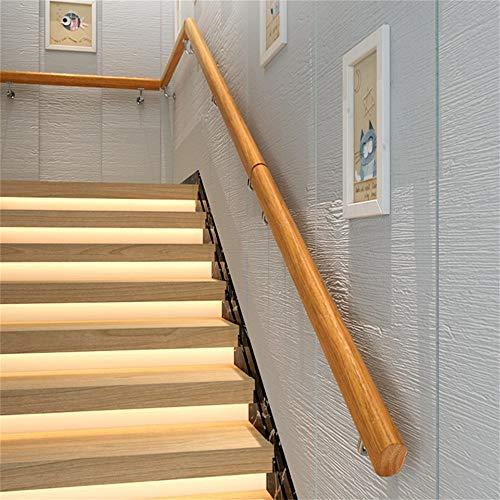 con vetas de madera Barandilla para escaleras de UISEBRT para interior y exterior