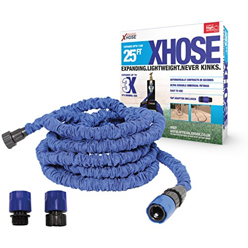 De Officiële XHose Uitbreiding Tuinslang Pijp met BONUS adapter 25ft Blauw