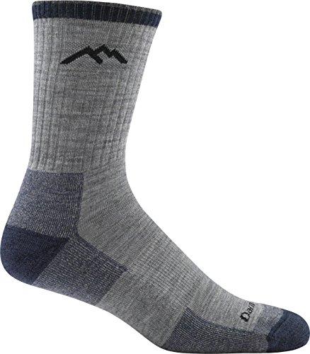 Darn Tough Hiker Micro Crew Cushion Sock - Men's Light Gray Medium