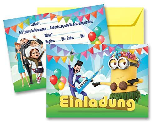 Unbekannt Minions einladungskarten Geburtstag Kinder Mädchen Jungen + Umschläge