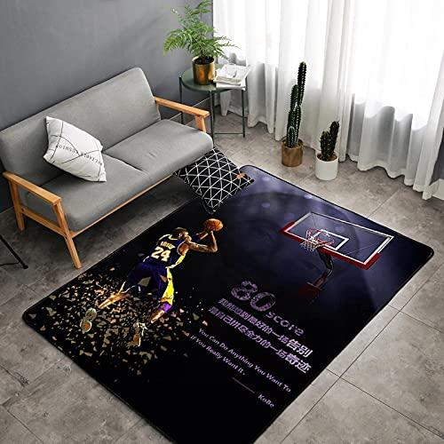 Alfombra De Estrella De Baloncesto Alfombras Impresas Digitales En 3D para Sala De Estar, Alfombra De Juego para Dormitorio Infantil 160 * 230Cm