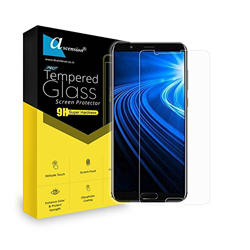 Ascension ® For HTC 10 Curve Tempered Gorilla Screen Protector High Premium Quality 9h Hard 2.5D ultra clear (Transparent) (Set of 2)