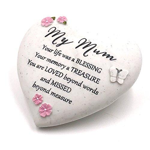 Graveside Memorial My Mum Remembrance Heart Ornament
