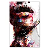 Abstract girl color wall art canvas print sexy lips pop art wall painting art print modern home decoración de la pared pintura 60X80cm sin marco