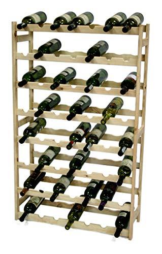 MODO24 Weinregal, Holz, unbehandelt, 72,5 x 25 x 118 cm, 19-Einheiten