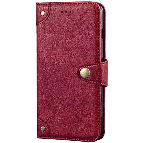 Dingshengk Retro Flip Rot Echt Leder Tasche Hülle Für ZTE Nubia Z20 6.42