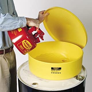 Eagle 1660 Yellow HDPE Drum Funnel, Spout for 2
