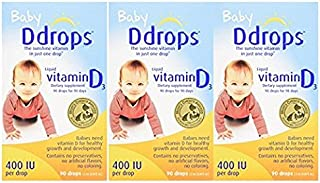 Ddrops 嬰兒 400 IU,90 滴 2.5 毫升 - 90 滴(3 件裝)