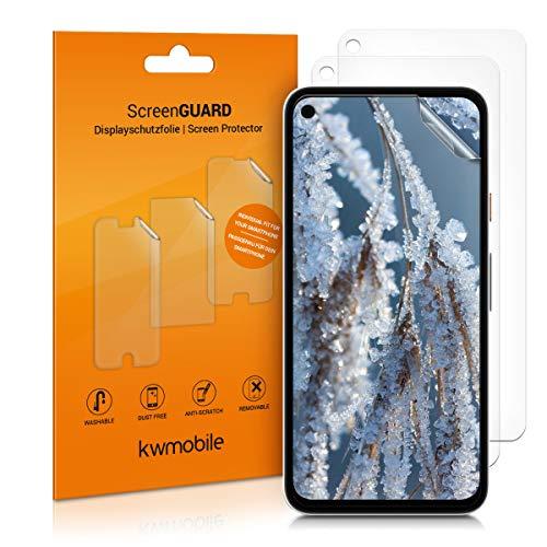 kwmobile 3x pellicola salvaschermo compatibile con Google Pixel 4a - Film protettivo proteggi telefono - protezione antigraffio Pellicola display smartphone