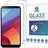 Pevita Protector de Pantalla para LG G6. [2 Packs]. Dureza 9H, Sin Burbujas, Fácil Instalación. Protector de Pantalla de Cristal Templado Premium para LG G6