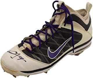 caa036ee530849 Dexter Fowler Autographed Colorado Rockies Game Used Worn Airmax Left Cleat