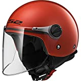 LS2 - Casco Casco Wuby Solid, Rosso, L