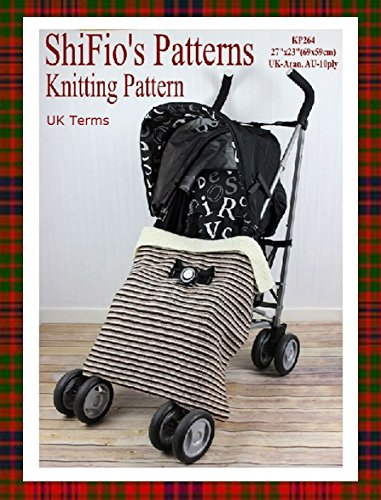 Knitting Pattern - KP264 - Buggy Stroller Blanket Afghan - USA Terminology (English Edition)