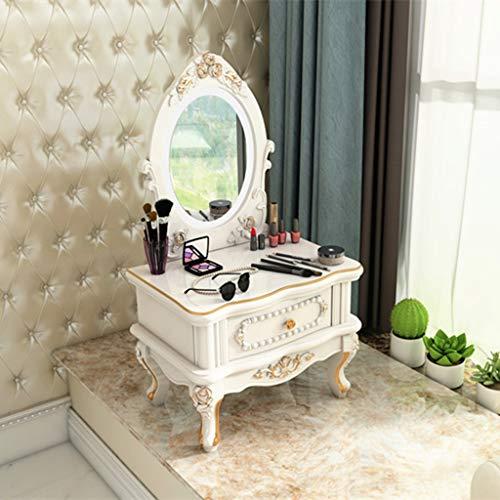 CJX-dressing Tafel, eenvoudige kaptafel, slaapkamer, make-up spiegel, kleur houtstijl, eenvoudige kaptafel met opslag te installeren