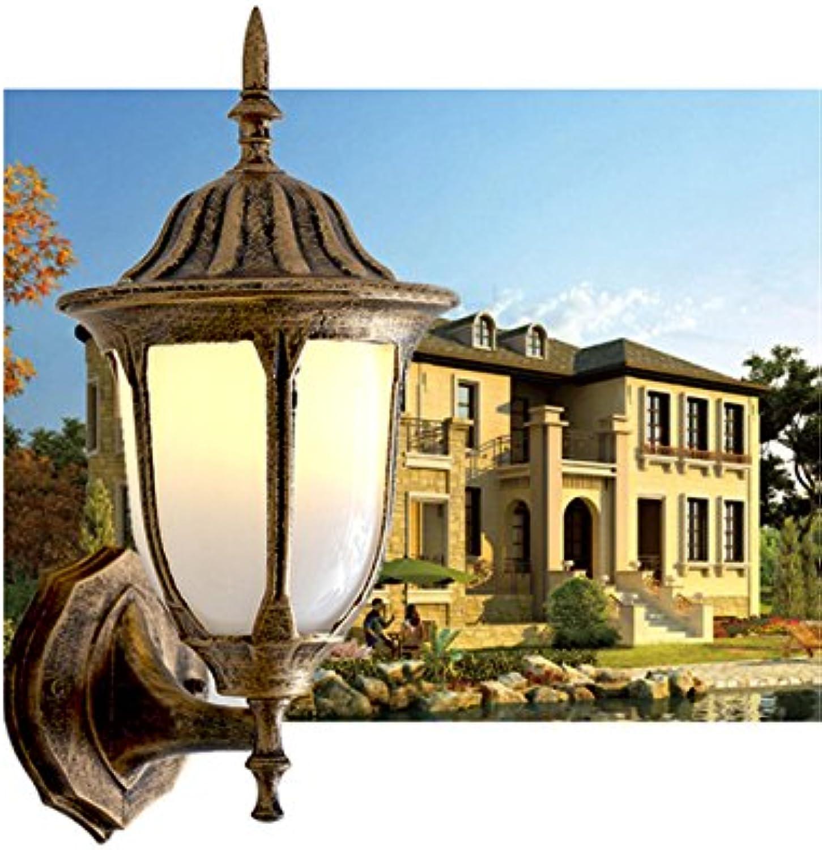 StiefelU LED Auenleuchte wasserdicht Wand leuchten Garten antike Wandleuchte Garten licht outdoor Wandleuchte Tür villa Balkon Wandleuchten, Braun 17 x 35 cm