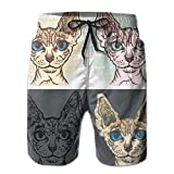 🌊 Material Of Shorts - 100% High Quality Polyester, Safe, Soft, Light Weight, Breathable And Comfortable. 🌊3D Printing Cut Beach Shorts,Funny And Fashinal Graphic. Without Ever Fading, Cracking, Peeling Or Flaking. 🌊 Comfortable Solid Color Surfing S...