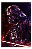 YITUOMO Darth Vader Lienzo decorativo para pared de 30,48 x 45,72 cm, diseño de Star Wars de David Prowse para decoración de habitación de niños y niñas, sin marco