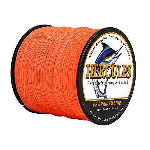 Hercules - Filo da pesca intrecciato a 4 fili, 100-2000m, 6-100lb, super morbido, polietilene, Lenze intrecciate per pesca con lenza, pesca da riva, pesca in mare, pesca in barca
